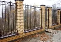 Забор с профильной трубы 20х20